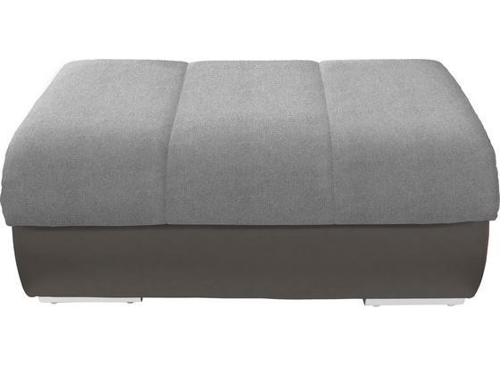 Taburet Multi - šedá/tmavě šedá, Moderní, textil (100/43/80cm)