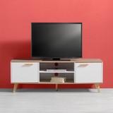 Tv Diel Claire - prírodné farby/biela, Moderný, drevo (144/50/42cm) - MODERN LIVING