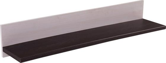 Falipolc Provence - Wenge/Fehér, romantikus/Landhaus, Faalapú anyag (125,7/18/21,6cm) - James Wood