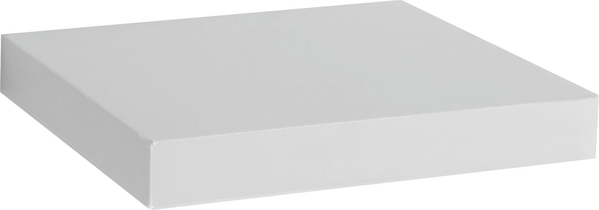 Nástenná Polica Simple - biela, Moderný, drevený materiál (23,5/3,8/23,5cm)