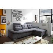 Wohnlandschaft Nalo ca. 268x170 cm - Dunkelgrau/Silberfarben, KONVENTIONELL, Holzwerkstoff/Textil (268/170cm) - Carryhome
