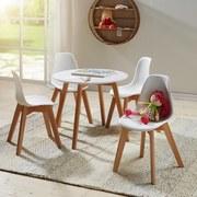 Kindertisch Mx - Naturfarben/Weiß, Basics, Holz/Holzwerkstoff (60/48/60cm) - Livetastic