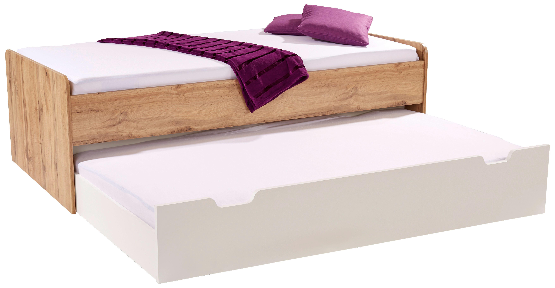 Funktionsbett Maxi Ii - tölgy színű/fehér, konvencionális, faanyagok (207/58/95cm)
