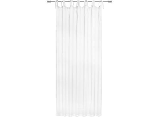 Záves S Pútkami Lisa - svetlomodrá/biela, Romantický / Vidiecky, textil (145/245cm) - Mömax modern living