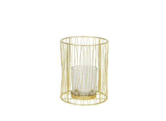Držiak Na Čajové Sviečky Macius - zlatá, Design, kov (12.5/16cm)