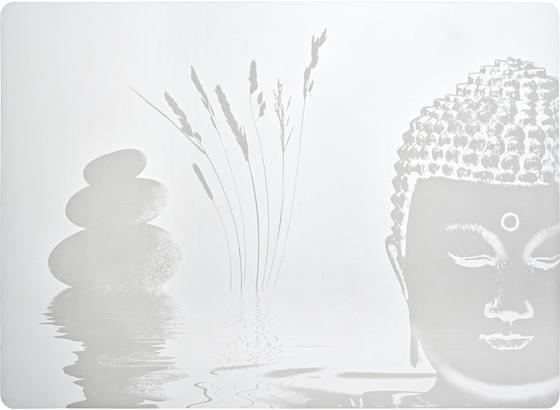Prostírání Buddha - bílá, Lifestyle, umělá hmota (33/45cm) - Mömax modern living