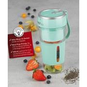 Smoothie-Maker-2-Go Maxxmee 300 ml Mint - Mintgrün, Basics, Glas/Kunststoff (8,3/9/18cm)
