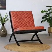 Designsessel Madrid Samt Rosa - Schwarz/Rosa, Design, Textil (66/80/90cm) - Livetastic