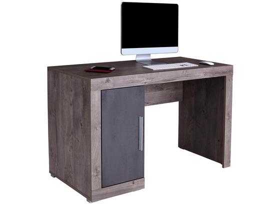 Písací Stôl Frame - biela/farby hľuzovkového dubu, Konvenčný, kompozitné drevo (122/75/53cm)