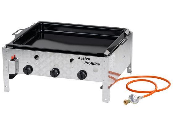 Gastrobräter Activa Profiline 3 Brenner 64,5x29x52,5 cm - Edelstahlfarben, KONVENTIONELL, Metall (64,5/29/52,5cm)
