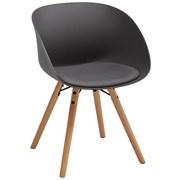 Židle Emely - šedá/barvy buku, Moderní, kov/dřevo (56/78/50,5cm) - Modern Living