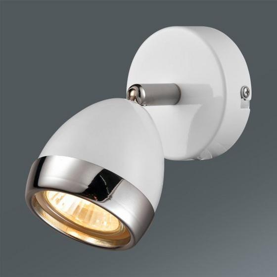 Bodove Svetlo Nantes - biela/chrómová, Štýlový, umelá hmota/kov (12,5/14cm) - Mömax modern living