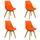 Stuhl-Set Woody 4-Er Set Orange - Naturfarben/Orange, MODERN, Holz/Kunststoff (48/83/48cm) - Livetastic