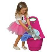 Spielzeugtrolley Rolly Pink - Pink/Schwarz, Basics, Kunststoff (34/60/43cm)