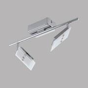 LED-Spotleuchte Ervas - Chromfarben/Weiß, MODERN, Glas/Metall (6,5/39cm)