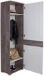 Šatná Skriňa Monza New - farby dubu/biela, Moderný, kompozitné drevo (60/196/36cm)
