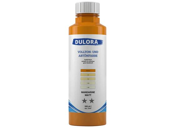Abtönfarbe 500ml Mandarine Matt - Dunkelgelb/Orange, Kunststoff (0,500l) - Dulora