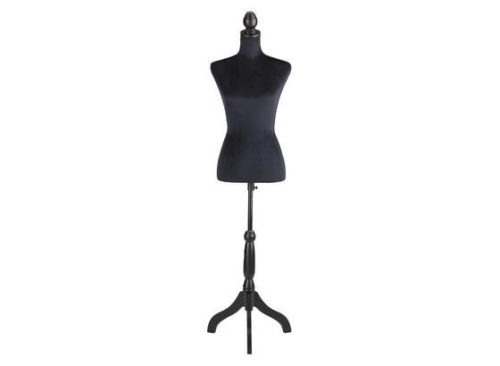 Dekoračná Busta Velvet - čierna, Moderný, drevo/textil (37/160/31cm)