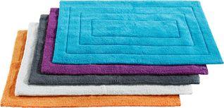Předložka Koupelnová Armin -based- - šedá/bílá, textil (50/80cm) - Based