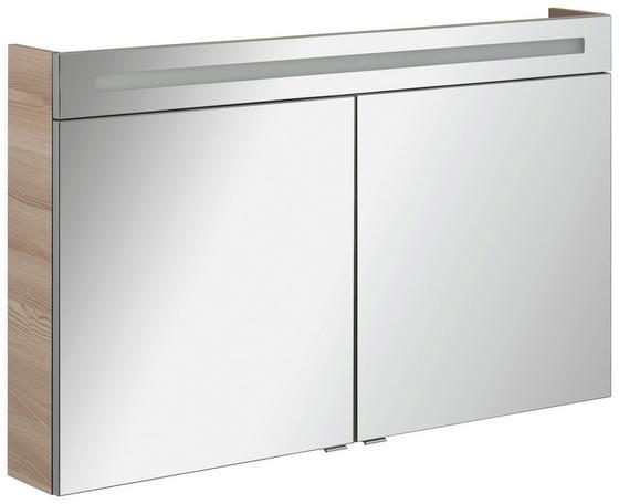 Spiegelschrank B. Clever 120 cm Esche - Eschefarben, MODERN, Glas/Holzwerkstoff (120/71/16cm) - Fackelmann