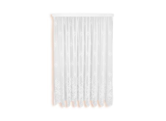 Blumenfensterstore Andrea - Weiß, KONVENTIONELL, Textil (300/175cm) - Ombra