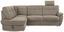 Wohnlandschaft in L-Form Sonoma 176x246 cm - Chromfarben/Beige, MODERN, Textil (176/246cm) - Ombra