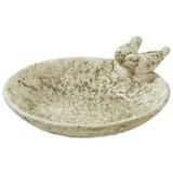 Vogelbad H:10,5cm - Hellbraun/Grau, MODERN, Keramik (28,5/32,5/10,5cm)