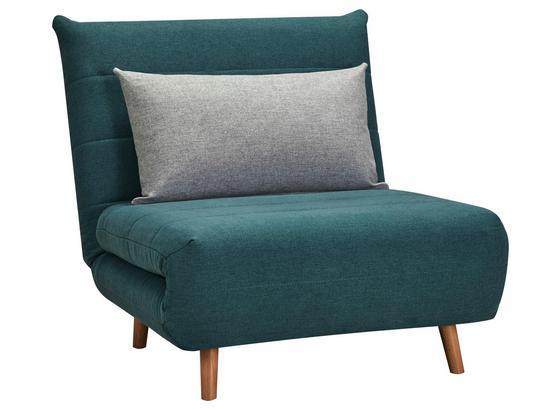 Schlafsofa Simon - Blau/Naturfarben, MODERN, Holz/Textil (77/84/91cm) - Ombra