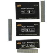 Heftklammern 3 Verschiedene Größen - Silberfarben, KONVENTIONELL, Metall