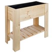 Hochbeet Holz mit Ablagefläche LxBxH: 86,8x40x80 cm - Naturfarben, MODERN, Holz (86,8/40/80cm)