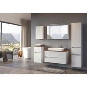 Hochschrank Pienza B: 40 cm Weiß - Silberfarben/Weiß, Basics, Holzwerkstoff (40/185/35cm) - MID.YOU