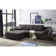 Wohnlandschaft Madrid ca. 197x315 cm - Silberfarben/Grau, KONVENTIONELL, Holzwerkstoff/Textil (197/315cm) - Carryhome