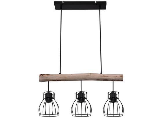 Závesná Lampa Gidi - čierna, Romantický / Vidiecky, kov/drevo (60/114-209/13,6cm) - Modern Living