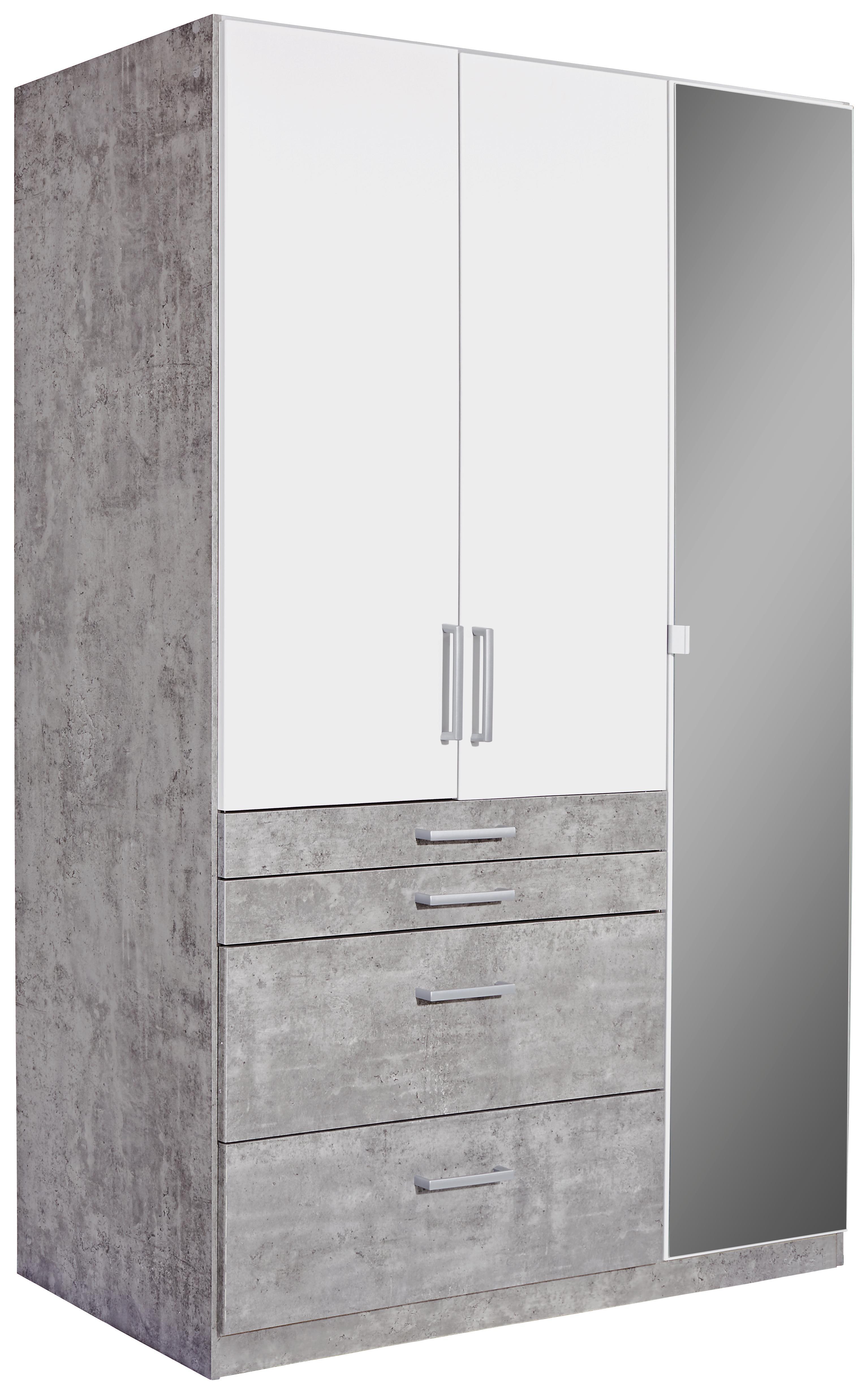 kleiderschrank tulln extra b 136cm wei stone dekor online. Black Bedroom Furniture Sets. Home Design Ideas
