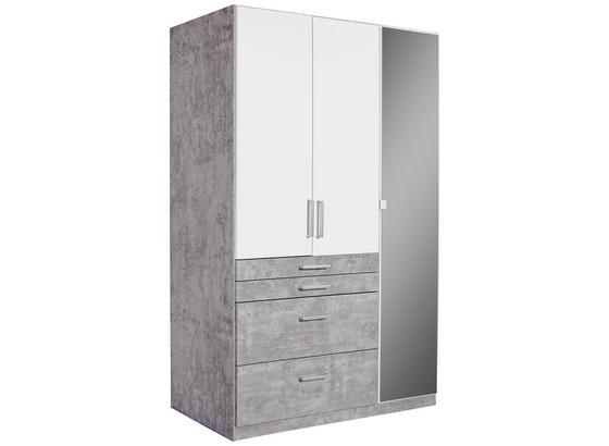 Kleiderschrank Tulln Extra B 136cm Weiss Stone Dekor Online Kaufen