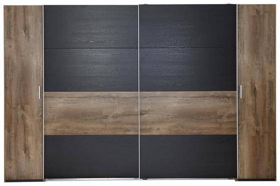 Skříň S Posuvnými Dveřmi Virgo - barvy dubu/černá, Moderní, dřevo/dřevěný materiál (315/210/65cm)