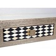 Couchisch Holz mit Schubladen Noida, Silberfarben - Silberfarben/Schwarz, Basics, Holzwerkstoff/Metall (110/70/45cm) - Livetastic