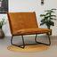 Sessel Paris Bench B: 83cm Dunkelgelb - Dunkelgelb/Schwarz, MODERN, Textil (83/83/75cm) - Livetastic