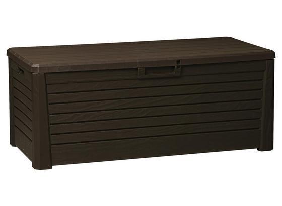 Kissenbox Wasserdicht Woody 148x60x72cm, 550l Braun - Braun, MODERN, Kunststoff (148/60/72cm)