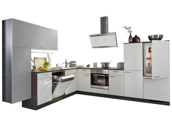 Rohová Kuchyňa Win - biela/antracitová, kompozitné drevo (285/325cm)