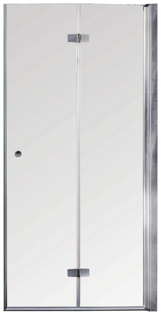 Glas Falttür Sanoflex Serie Duet R 85-87cm - Transparent, KONVENTIONELL, Glas (85-87/195cm)
