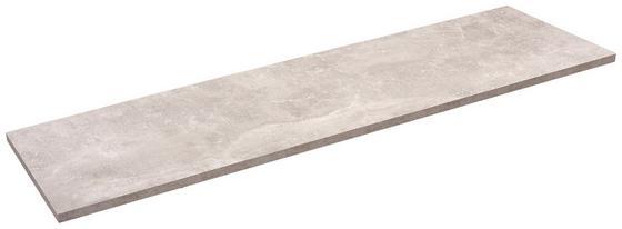 Police Nástěnná Skate 120/30 - šedá, Moderní, kompozitní dřevo (120/1,8/30cm)