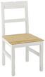 Stolička Nicolo - farby dubu/biela, Moderný, drevo (45/90/42cm) - Modern Living