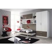 Drehtürenschrank mit Laden 91cm Albero, Weiß/Grau - Weiß/Grau, Design, Holzwerkstoff (91/197/54cm) - MID.YOU