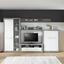 Komoda Highboard Malta - sivá/biela, Moderný, kompozitné drevo (96/132/35cm)