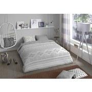 Bettwäsche Lola - Weiß/Grau, Basics, Textil