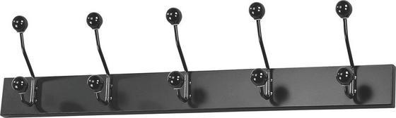 Lišta S Háčky Greve - bílá/černá, Moderní, kov/kompozitní dřevo (65/13/7cm)