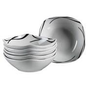 Müslischalenset 6-Tlg. Müslischalenset Oslo - Schwarz/Weiß, Basics, Keramik (16,5/16/14cm)