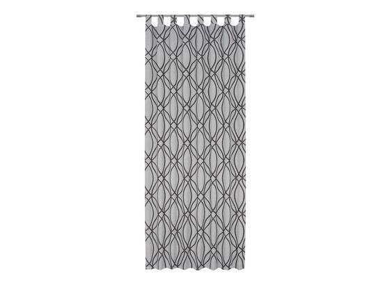 Kombivorhang Miranda - Schwarz, ROMANTIK / LANDHAUS, Textil (140/255cm) - James Wood