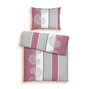 Ágyneműhuzat-garnitúra Sabine - Natúr/Piros, modern, Textil - Ombra